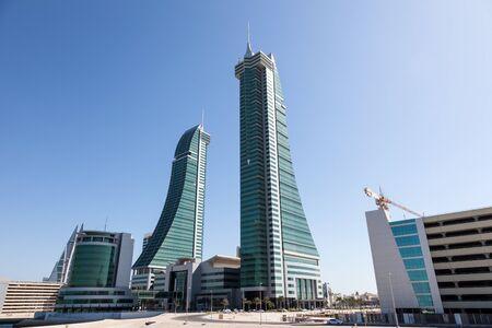 bahrain: MANAMA, BAHRAIN - NOV 15: Bahrain Financial Harbour Skyscrapers in Manama City. November 15, 2015 in Manama, Kingdom of Bahrain