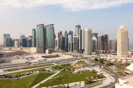 diplomatic: View over the Doha downtown Diplomatic Area. Qatar, Middle East