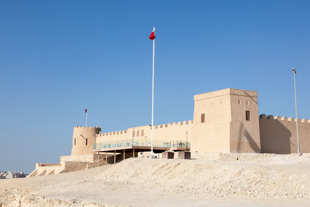 castle: Historic Riffa fort in the Kingdom of Bahrain, Middle East