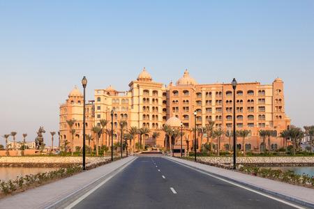 marsa: DOHA, QATAR - NOV 19: New luxury 5 star resort hotel Marsa Malaz Kempinski at The Pearl Doha. November 19, 2015 in Doha, Qatar, Middle East
