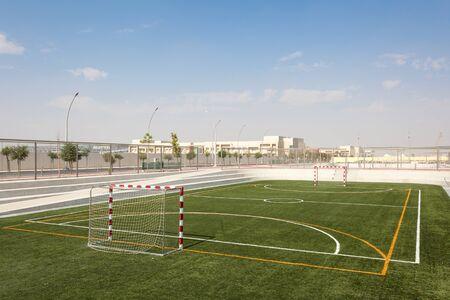 sports field: Empty handball sports field in Doha, Qatar, Middle East