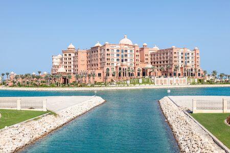 marsa: DOHA, QATAR - NOV 21: New luxury 5 star resort hotel Marsa Malaz Kempinski at The Pearl Doha. November 21, 2015 in Doha, Qatar, Middle East Editorial