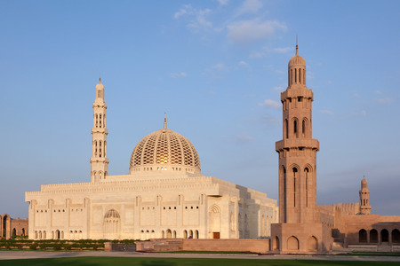 middle east: The Sultan Qaboos Grand Mosque in Muscat. Oman, Middle East