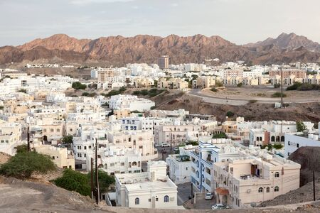 muttrah: Residential buildings in the city of Muscat. Sultanate of Oman, Middle East