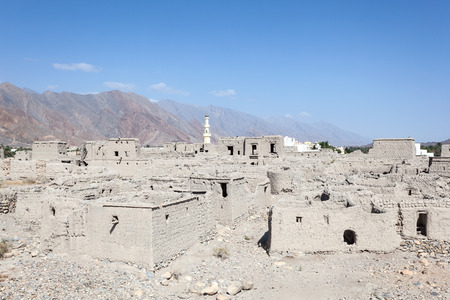 ad: Ruin of an old omani village at Izki. Ad Dakhiliyah, Sultanate of Oman, Middle East