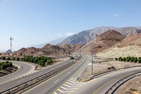 number 15: Highway Number 15 connection Muscat and Nizwa. Sultanate of Oman, Middle East