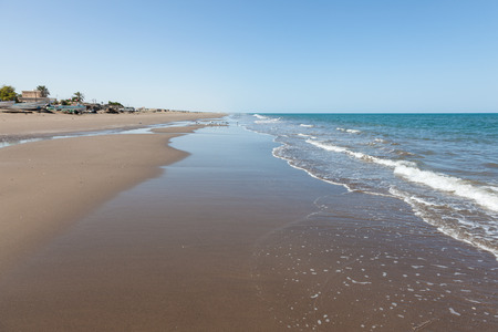 muscat: Arabian Gulf beach in Muscat, Sultanate of Oman, Middle East Stock Photo