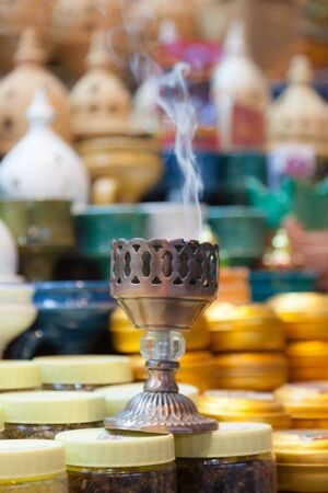 souq: Traditional incense burner in the old souq of Muscat, Sultanate of Oman, Middle East