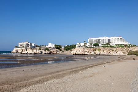 muscat: MUSCAT, OMAN - NOV 28: Shatti Al Qurum Beach in Muscat. November 28, 2015 in Muscat, Sultanate of Oman, Middle East