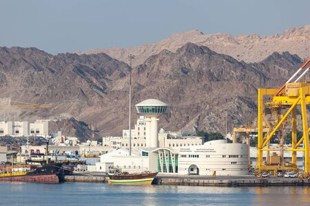 muttrah: MUSCAT, OMAN - NOV 29: Port Sultan Qaboos cruise terminal in Muttrah. November 29, 2015 in Muscat, Sultanate of Oman