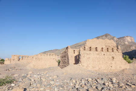 Ruins of an old omani village in Birkat Al Mouz. Nizwa, Sultanate of Oman, Middle East