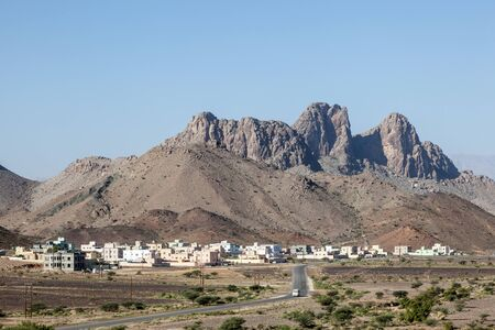 mountainscape: Village in Nizwa region. Sultanate of Oman, Middle East