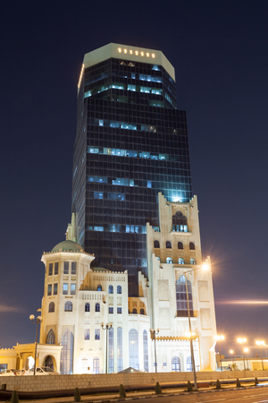artdeco: Art Deco architecture in the city of Doha. Qatar, Middle East Editorial