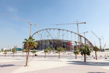 aspire: Khalifa Stadium in the Aspire Zone of Doha under total renovation. Doha, Qatar, Middle East