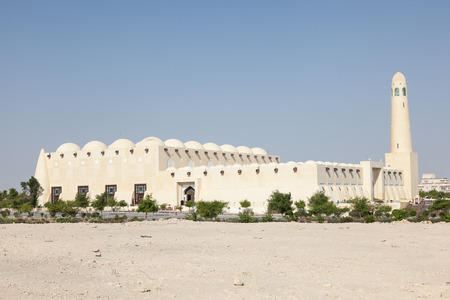 middle east: The Abdul Wahhab Grand Mosque in Doha. Qatar, Middle East Stock Photo