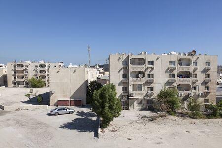 residential neighborhood: Residential buildings in a neighborhood in Muharraq, Manama, Bahrain, Middle East