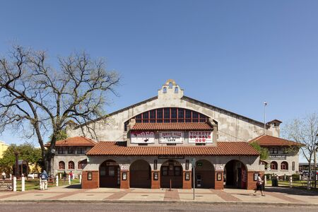 arena rodeo: FORT WORTH, TX, USA - APR 6: Coliseum building at the Fort Worth Historic Stockyards. April 6, 2016 in Fort Worth, Texas, USA Editorial