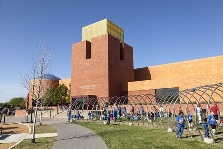 worth: FORT WORTH, TX, USA - APR 6: The Fort Worth Museum of Science and History. April 6, 2016 in Fort Worth, Texas, USA