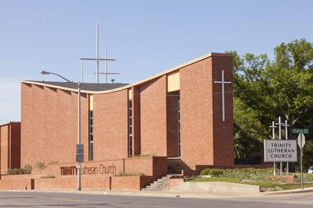 fort worth: FORT WORTH, TX, USA - APR 6: The Trinity Lutheran Church in Fort Worth. April 6, 2016 in Fort Worth, Texas, USA