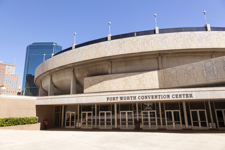 worth: FORT WORTH, TX, USA - APR 6: Fort Worth Convention Center building. April 6, 2016 in Fort Worth, Texas, USA