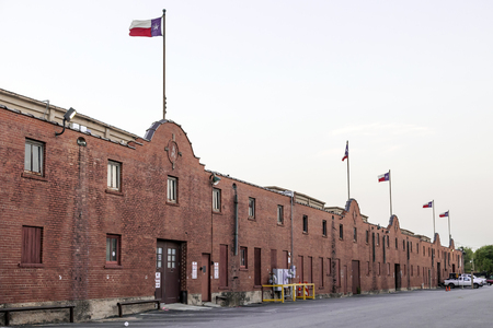 historic district: Fort Worth Stockyards historic district buildings. Texas, United States Editorial