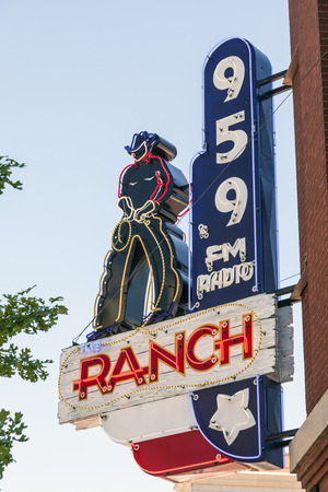 fort worth: FORT WORTH, USA - APR 6: The Ranch - Country Music Radio Station in Fort Worth. April 6, 2016 in Fort Worth, Texas, USA Editorial