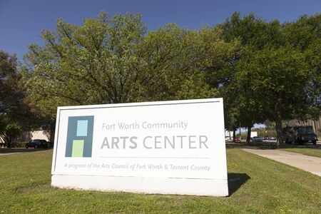 fort worth: FORT WORTH, USA - APR 6: The Fort Worth Community Arts Center in the Cultural District. April 6, 2016 in Fort Worth, Texas, USA Editorial