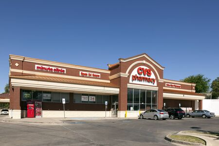 fort worth: FORT WORTH, USA - APR 6: CVS Pharmacy Store in the city of Fort Worth. CVS is the largest pharmacy chain in the United States. April 6, 2016 in Fort Worth, Texas, USA