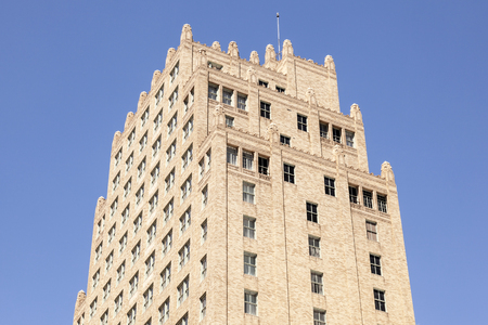 accomodation: FORT WORTH, USA - APR 6: The Courtyard by Marriot Hotel building in the city of Fort Worth. April 6, 2016 in Fort Worth, Texas, USA Editorial