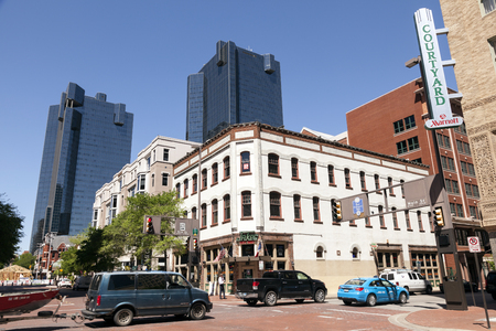 fort worth: FORT WORTH, USA - APR 6: Scenery in the Fort Worth Downtown. April 6, 2016 in Fort Worth, Texas, USA Editorial