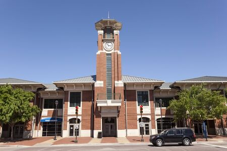 intermodal: FORT WORTH, USA - APR 6: The Fort Worth intermodal transportation center building. April 6, 2016 in Fort Worth, Texas, USA