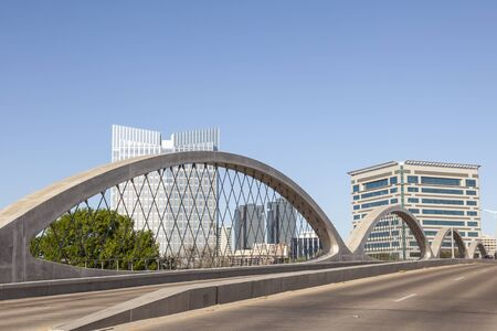 fort worth: FORT WORTH, USA - APR 6: The Wave shaped new West 7th Street Bridge in Fort Worth. April 6, 2016 in Fort Worth, Texas, USA Editorial