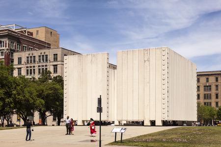 john fitzgerald kennedy: DALLAS, USA - APR 7: John Fitzgerald Kennedy Memorial in the city of Dallas. April 7, 2016 in Dallas, Texas, United States
