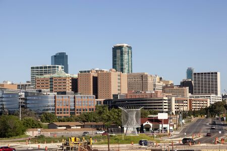 View of the Fort Worth Downtown. Texas, United States