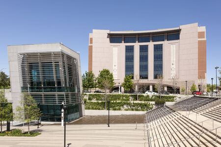 worth: FORT WORTH, USA - APR 6: Tom Vandergriff Civil Courts Building in Fort Worth. April 6, 2016 in Fort Worth, Texas, USA