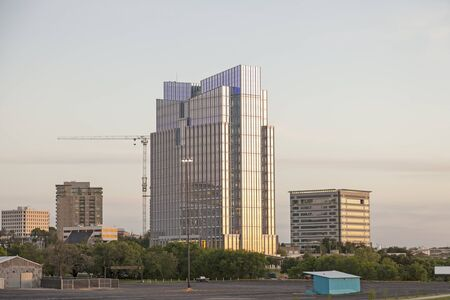 worth: FORT WORTH, USA - APR 6: The Pier 1 Imports headquarters facility building in Fort Worth. April 6, 2016 in Fort Worth, Texas, USA