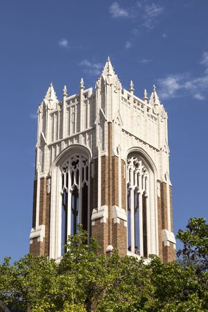 methodist: Bell tower of the First United Methodist Church in Dallas, Texas, United States Stock Photo