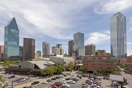 autos: Parking lot in Dallas Downtown. Texas, United States