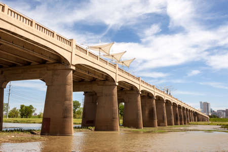 continental united states: The Continental Avenue Pedestrian Bridge over the Trinity River in Dallas, Texas, United States