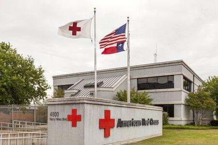red cross: DALLAS, USA - APR 9: American Red Cross office building in Dallas, April 9, 2016 in Dallas, Texas, United States