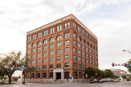 the sixth: DALLAS, TX, USA - APR 8, 2016: The Sixth Floor Museum at Dealey Plaza. The museum presents the life, death and legacy of President John F. Kennedy. Editorial