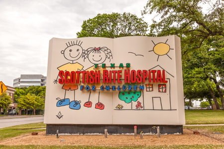 rite: DALLAS, USA - APR 9: The Scottish Rite Hospital for children in Dallas. April 9, 2016 in Dallas, Texas, United States