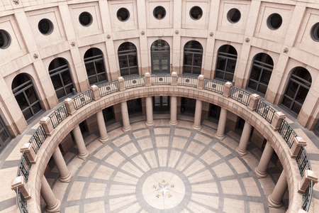 openair: The Open-Air Rotunda at the Texas State Capitol in Austin, Texas, United States Editorial