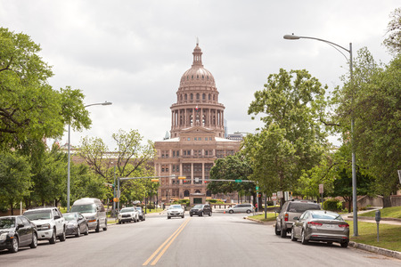 downtown capitol: AUSTIN, USA - APR 10: The Texas State Capitol building in Austin Downtown. April 10, 2016 in Austin, Texas, United States