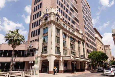 artdeco: SAN ANTONIO, USA - APR 11: Art Deco architecture in the city of San Antonio, Texas. April 11, 2016 in San Antonio, Texas, United States