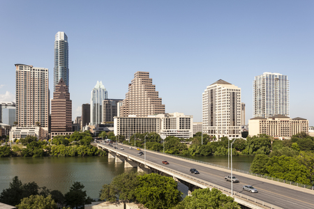 Austin city downtown skyline. Texas, United States Stock Photo - 60848462