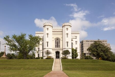 artdeco: The Old State Capitol building in the city of Baton Rouge. Louisiana, United States