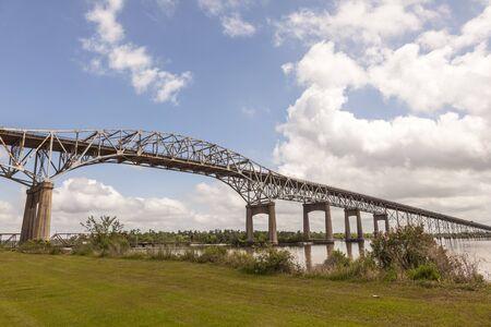 The historic Calcasieu River Bridge from 1951. Westlake, Louisiana, United States