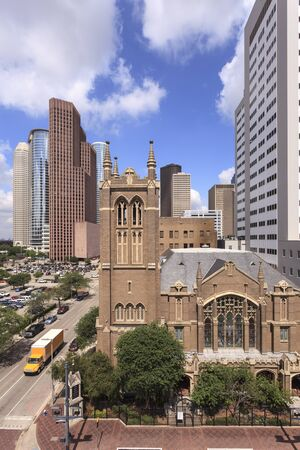 methodist: Church in Houston downtown district. Texas, United States
