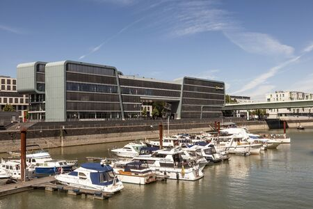 microsoft: COLOGNE, GERMANY - AUG 7, 2016: The Microsoft Technology Center (MTC) at the Rheinauhafen in the city of Cologne, Germany